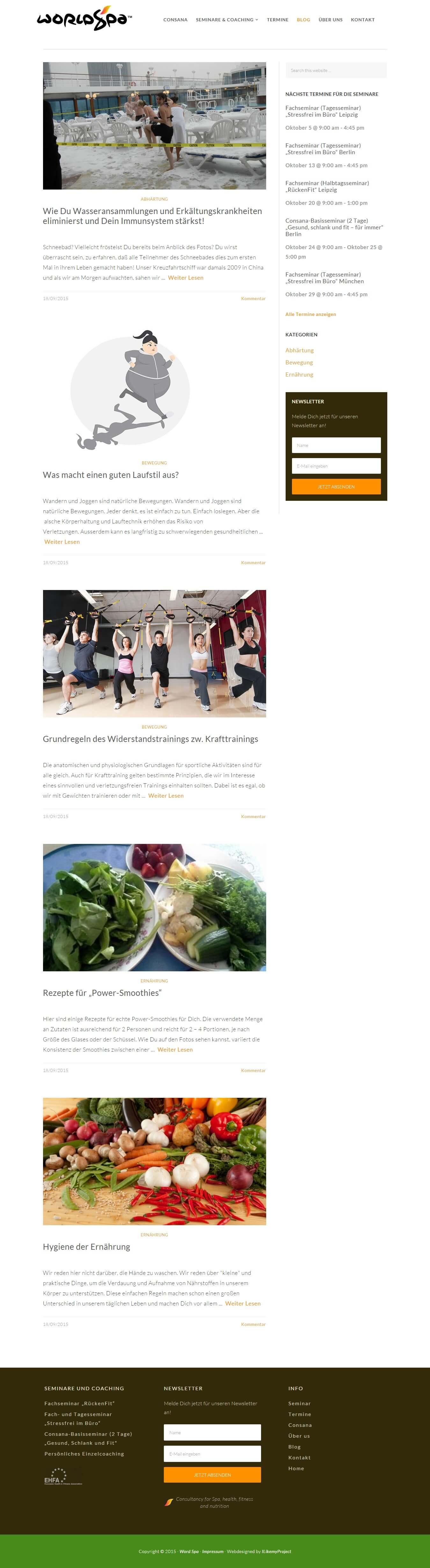 Blog   World Spa